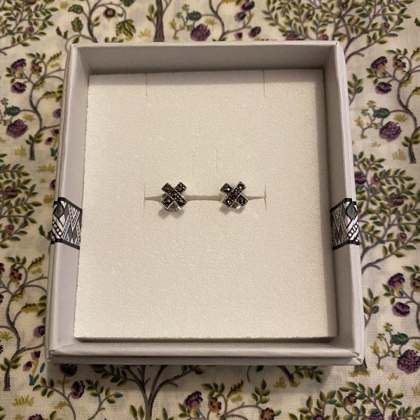 Marcasite Kiss Earrings Boxed