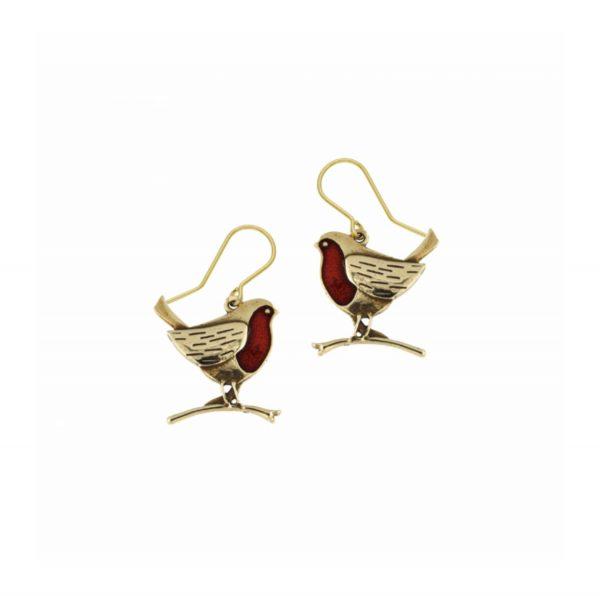 Robin Bronze Earrings