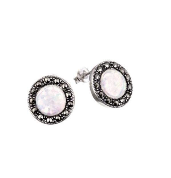 opalite sparkle earrings