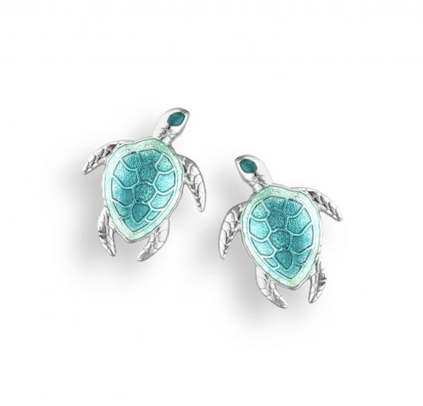 enamel turtle stud earrings