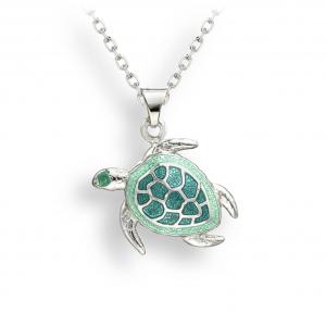 enamel turtle pendant