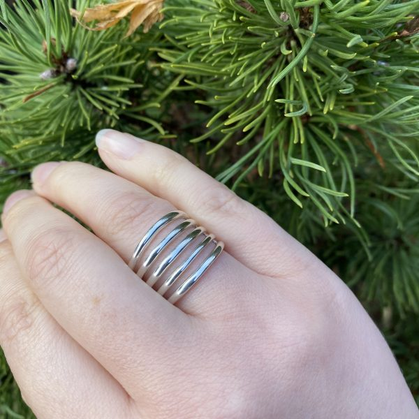 silver lines ring