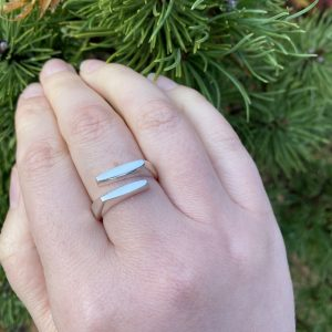 silver squared ring