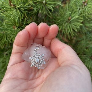 snowflake pendant outside