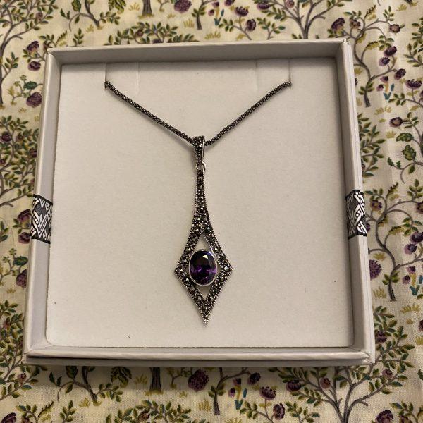 violet sparkle pendant