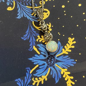 marcasite and opalite trilogy pendant