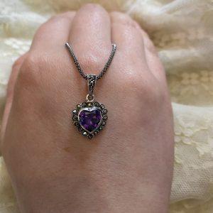 marcasite purple heart on LJ